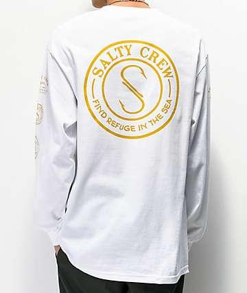 Salty Crew Palomar White Long Sleeve T-Shirt