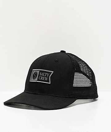 meet 00ae2 82dea Salty Crew Pinnacle Retro Black Trucker Hat