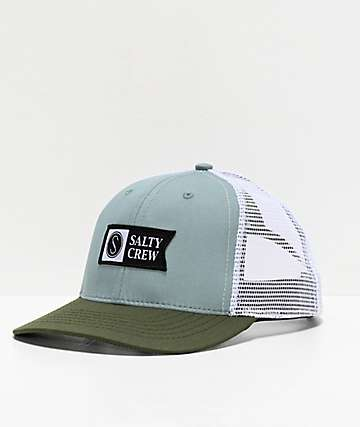 wholesale dealer cb244 b47d1 Salty Crew Pinnacle Retro Mist   Olive Trucker Hat
