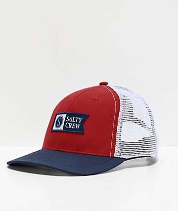 Salty Crew Pinnacle Retro Navy & Rust Trucker Hat