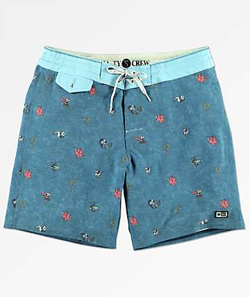 Salty Crew Rocks & Docks Blue Print Board Shorts