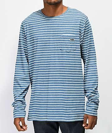 Salty Crew Scallywag camiseta de manga larga de rayas azules
