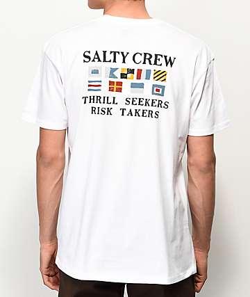 Salty Crew Signals camiseta blanca
