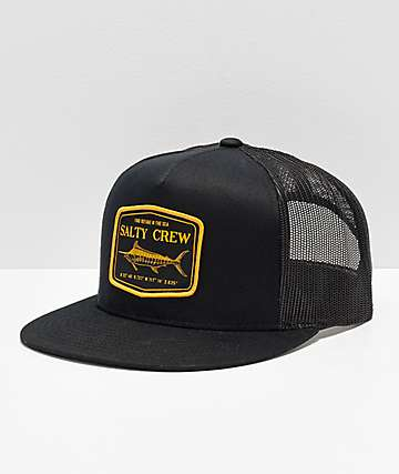 Salty Crew Stealth Black Trucker Hat