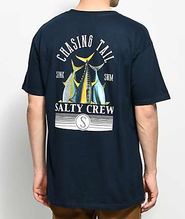 Salty Crew Tails Navy T-Shirt