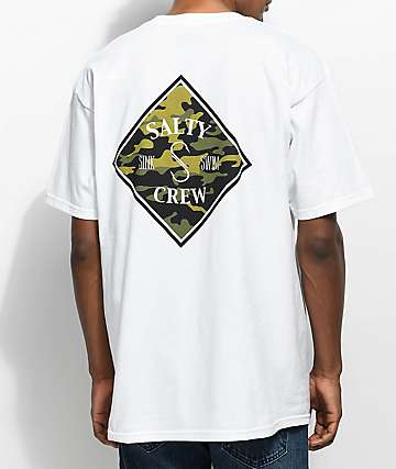 Salty Crew Tippet Camo White T-Shirt
