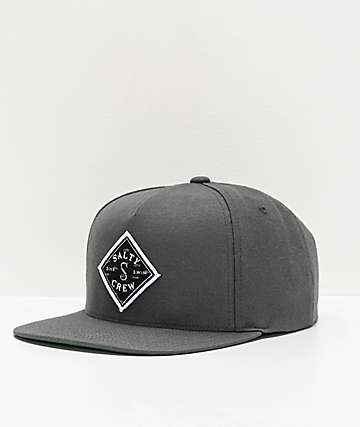 new arrivals f59f8 3d4ae Salty Crew Tippet Cover Up Charcoal Snapback Hat