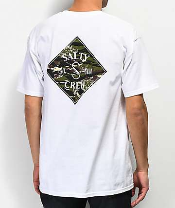 Salty Crew Tippet Cover Up White T-Shirt