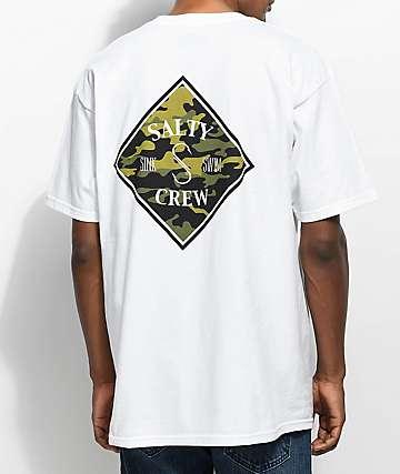 Salty Crew Tippet camiseta camuflada blanca