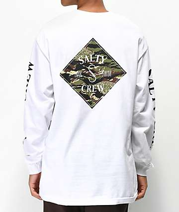Salty Crew Tippet camiseta de manga larga blanca
