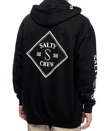 Salty Crew Tippet sudadera negra con capucha