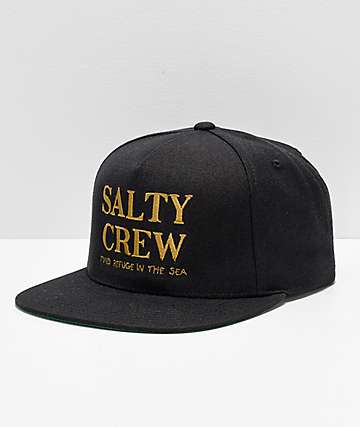 Salty Crew Top Shot Black Snapback Hat