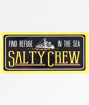 Salty Crew Trawler Black Sticker