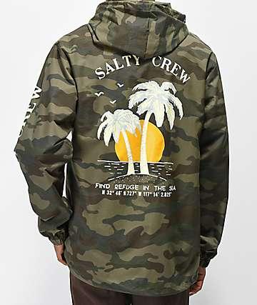 Salty Crew Twin Palms chaqueta de camuflaje