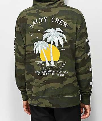 Salty Crew Twin Palms sudadera con capucha de camuflaje