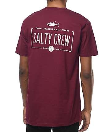 Salty Crew Waypoint camiseta en color vino