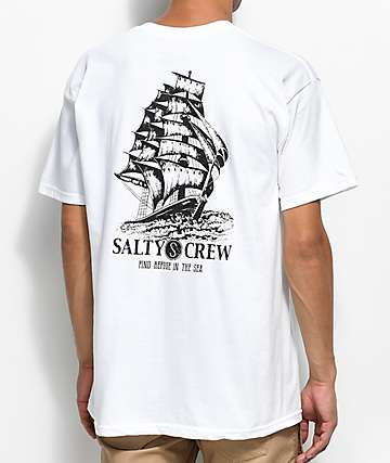Salty Crew Weather Helm White T-Shirt