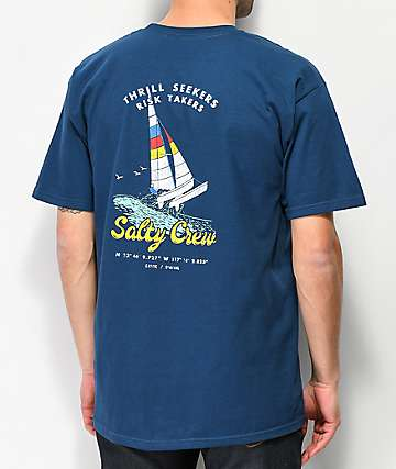 Salty Crew Wild Cat Harbor Blue T-Shirt