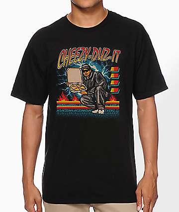 Samborghini Cheezy-Duz-It Black T-Shirt