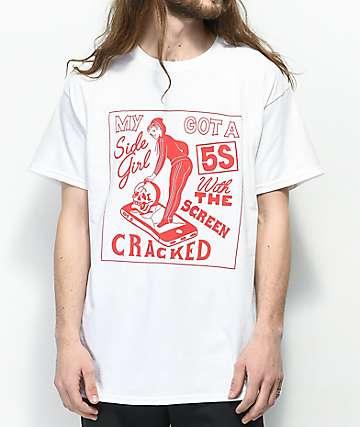 Samborghini Sidegirl White T-Shirt