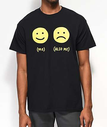 Samborghini Smile Face Black T-Shirt