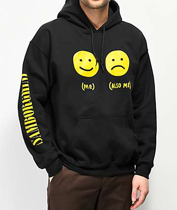 Samborghini Smile Faces Black Hoodie