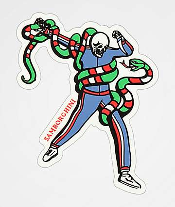 Samborghini Snake Fight Sticker