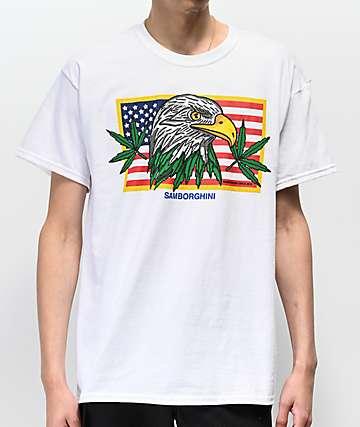Samborghini Weed Eagle White T-Shirt