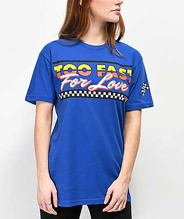 Samii Ryan Too Fast For Love Blue T-Shirt
