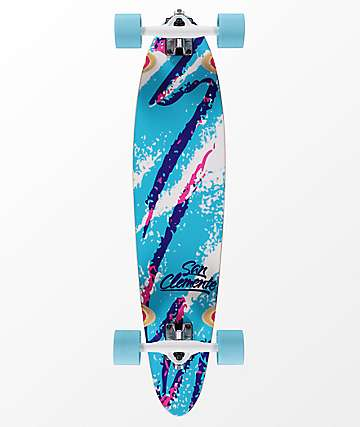 """San Clemente 1991 34"""" Pintail longboard completo"""