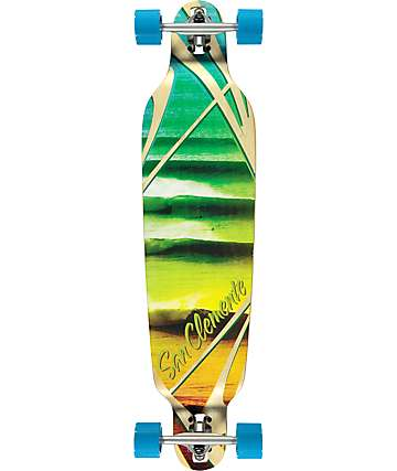 "San Clemente Impossibles 3 40"" drop through longboard completo"