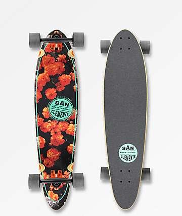 "San Clemente Orange Blossom 36"" Longboard Complete"