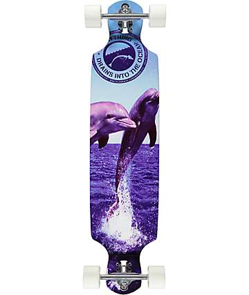 "San Clemente The Joy 39"" Drop Through Longboard Complete"