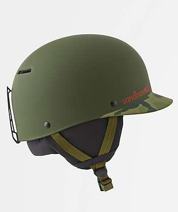 Sandbox Classic 2.0 Dark Green Camo Snowboard Helmet