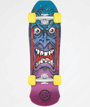 "Santa Cruise Roskopp Face 9.5"" Cruiser Complete Skateboard"