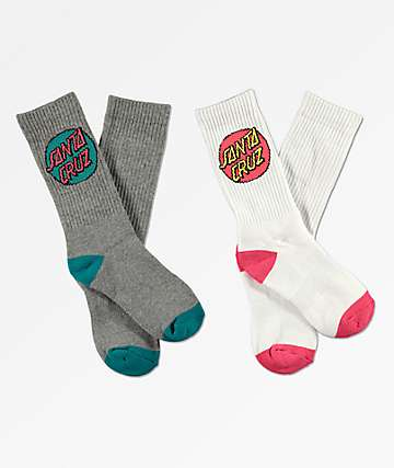 Santa Cruz 2 Pack Pop Dot Socks