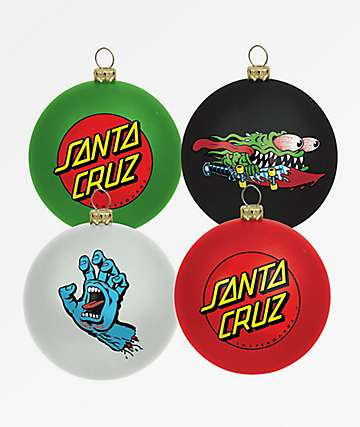 Santa Cruz 4 Pack Ornament Set