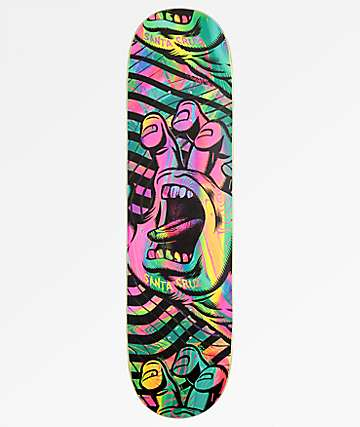 "Santa Cruz Acid Hand 8.0"" Everslick Skateboard Deck"