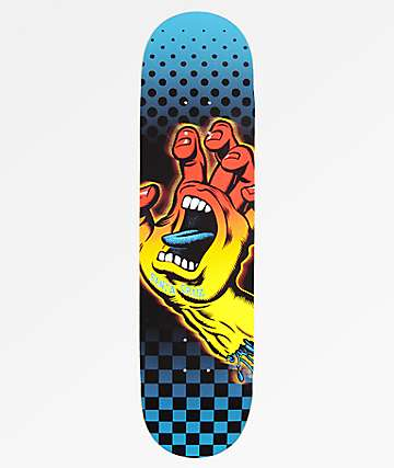 "Santa Cruz Aura Hand Hard Rock Maple 8.12"" Skateboard Deck"