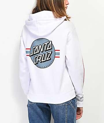 Santa Cruz Banner Dot White Hoodie