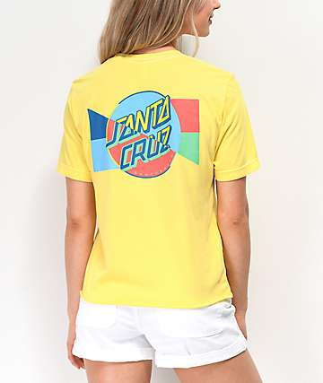 Santa Cruz Blocker Yellow Crop T-Shirt