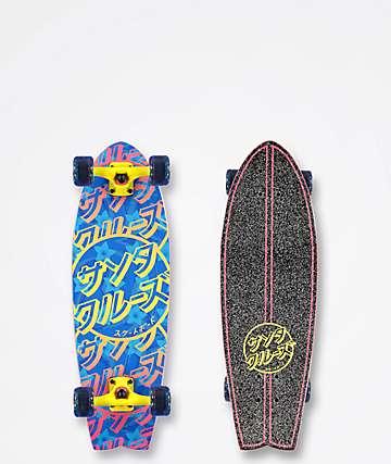 "Santa Cruz Blossom Dot 27.5"" Cruiser Complete Skateboard"