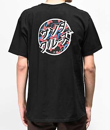 Santa Cruz Blossom Dot Black T-Shirt