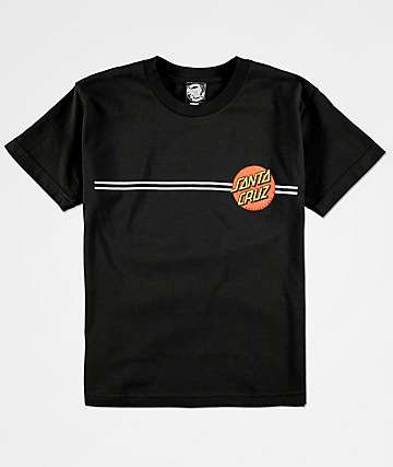 Santa Cruz Boys Classic Dot Black T-Shirt