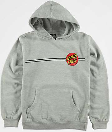 Santa Cruz Boys Classic Dot Heather Grey Hoodie