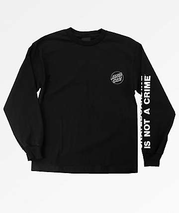 Santa Cruz Boys Not A Crime Black Long Sleeve T-Shirt