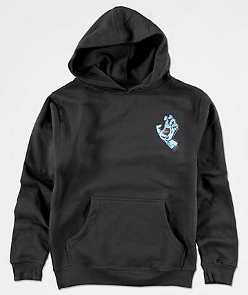 Santa Cruz Boys Screaming Hand Black Hoodie