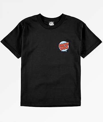 Santa Cruz Boys Screaming Hand Black T-Shirt