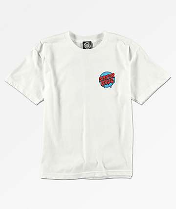 Santa Cruz Boys Screaming Hand White T-Shirt