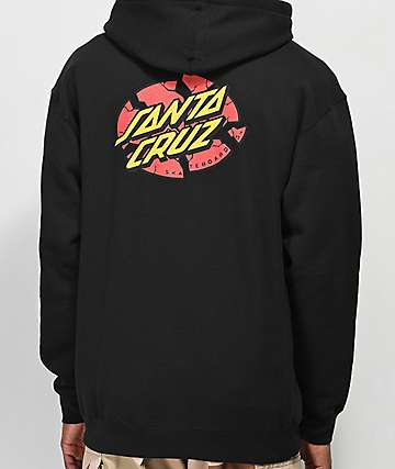 Santa Cruz Broken Dot Black Hoodie